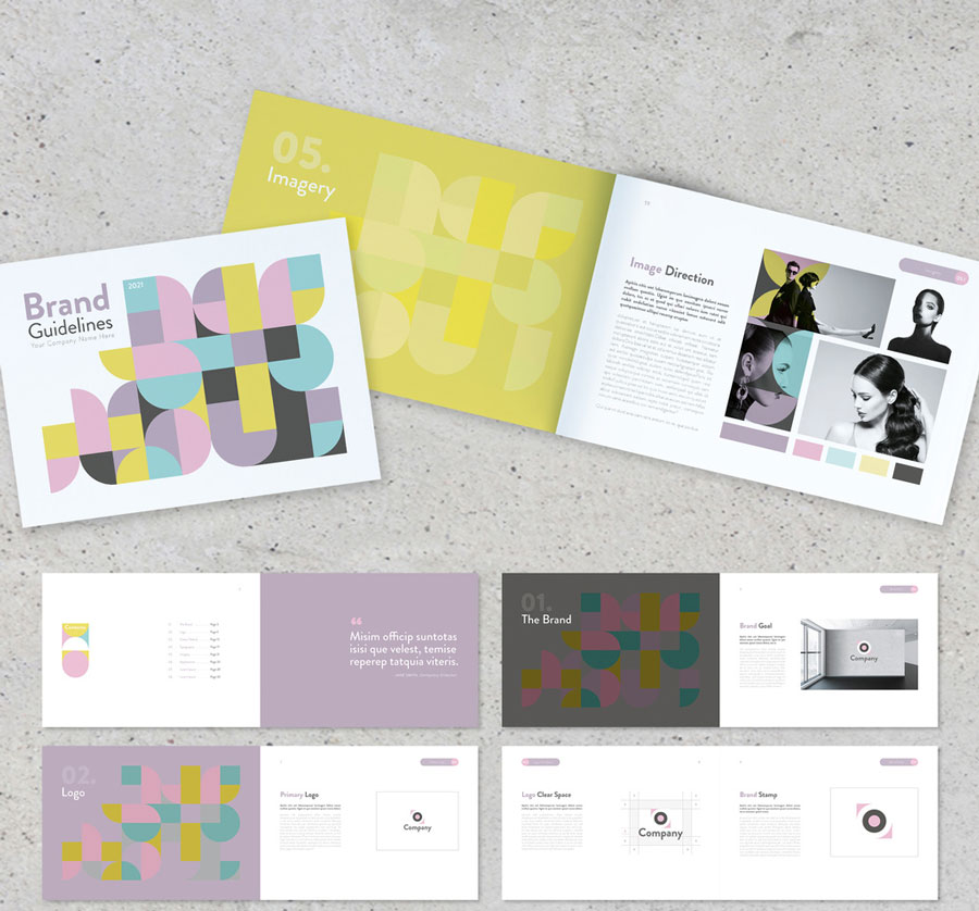 Forms Style Brand Guidelines Layout