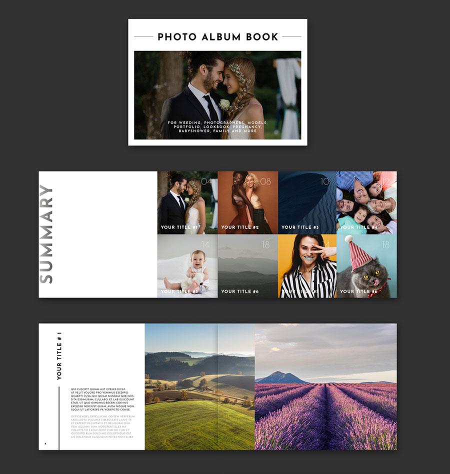 Horizontal Photo Album Book Layout