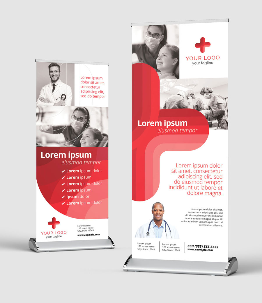 Medical Roll Up Banner for Hospitals and Doctors