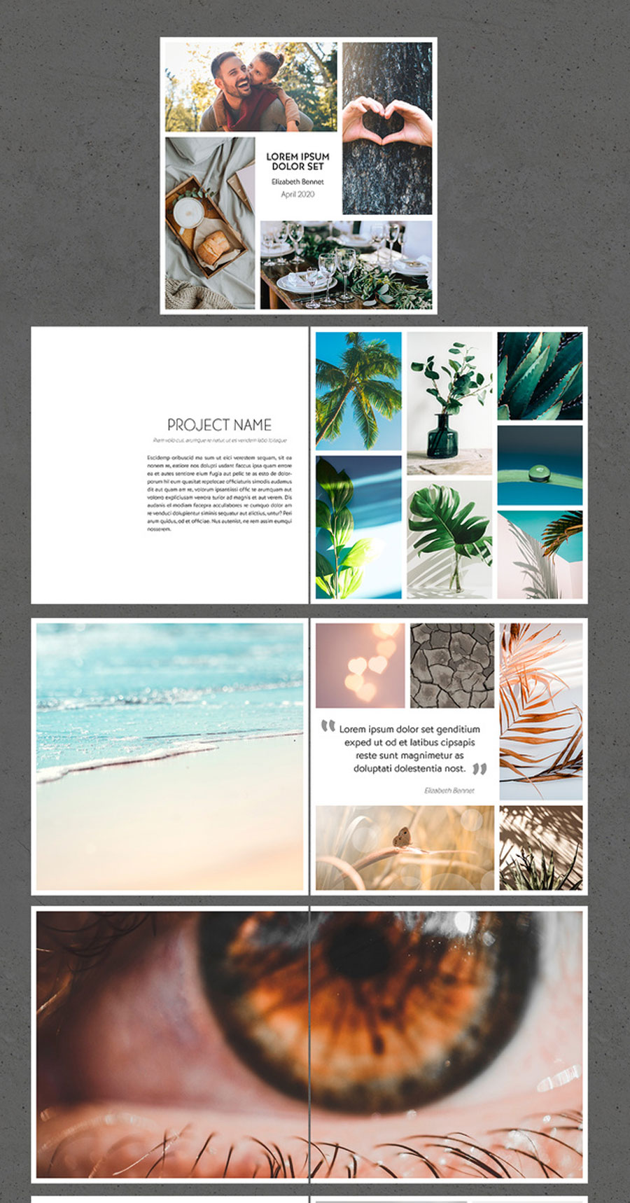 Minimal Square Photography Portfolio Brochure Layout
