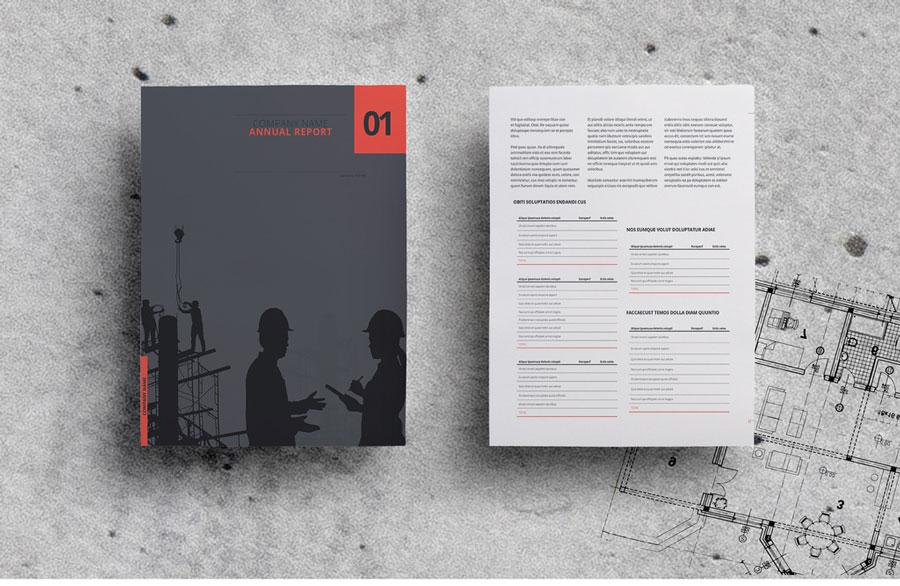 Minimalist Annual Report Layout