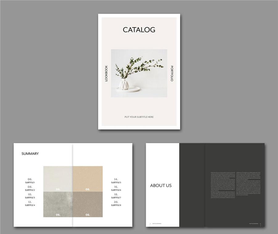 Minimalist Catalog Lookbook Layout