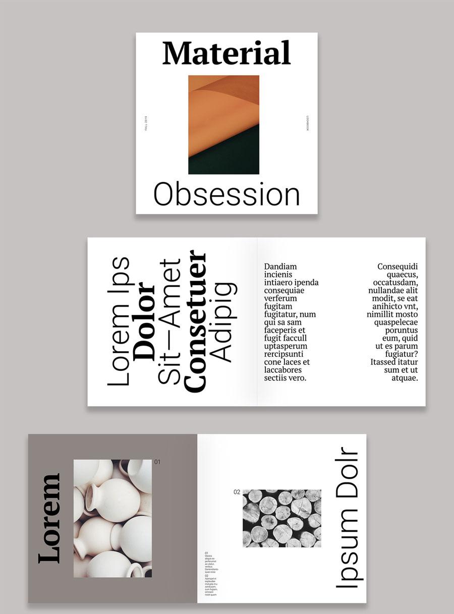 Modern Design Lookbook Layout