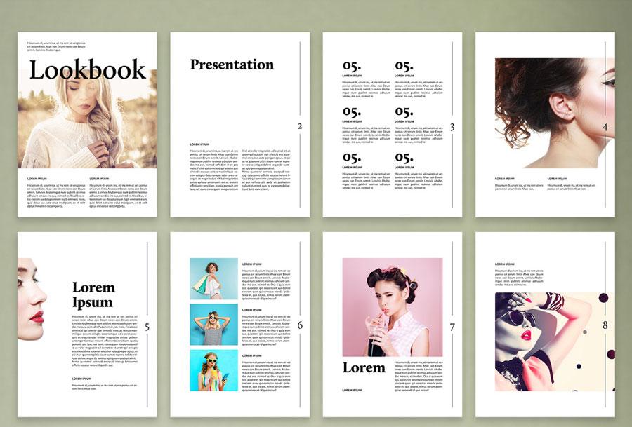 Modern Fashion Digital Lookbook Layout