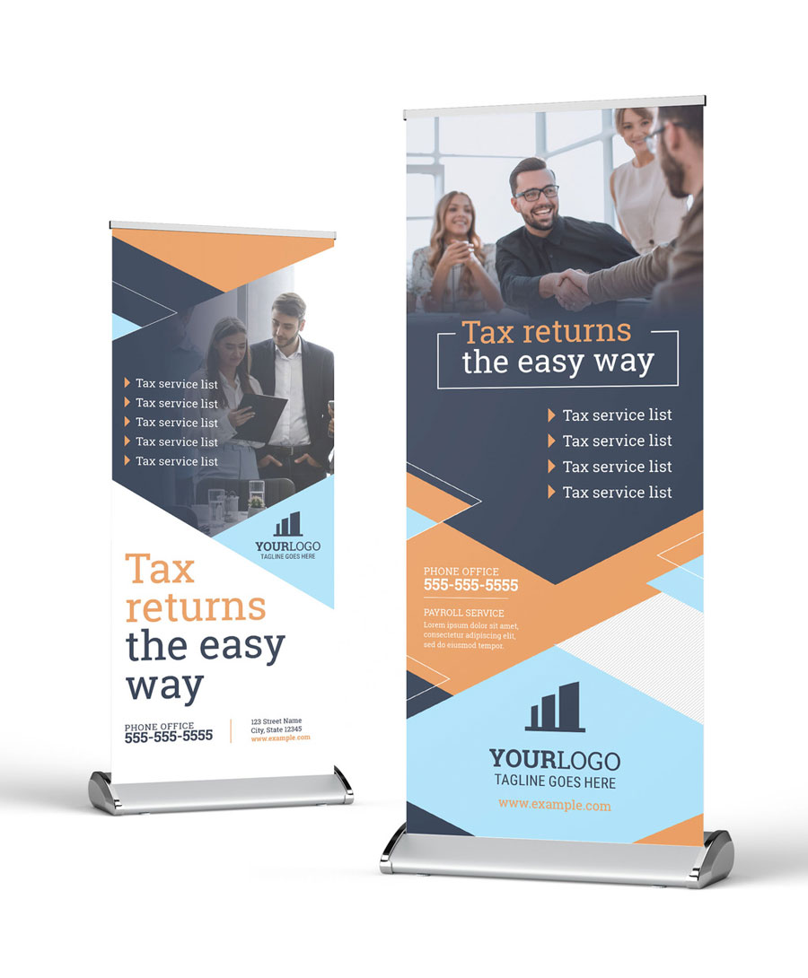 Modern Roll Up Banner for Tax Accounting Financial Service
