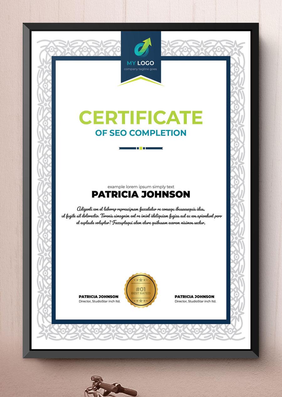 Multipurpose Certificate Layout