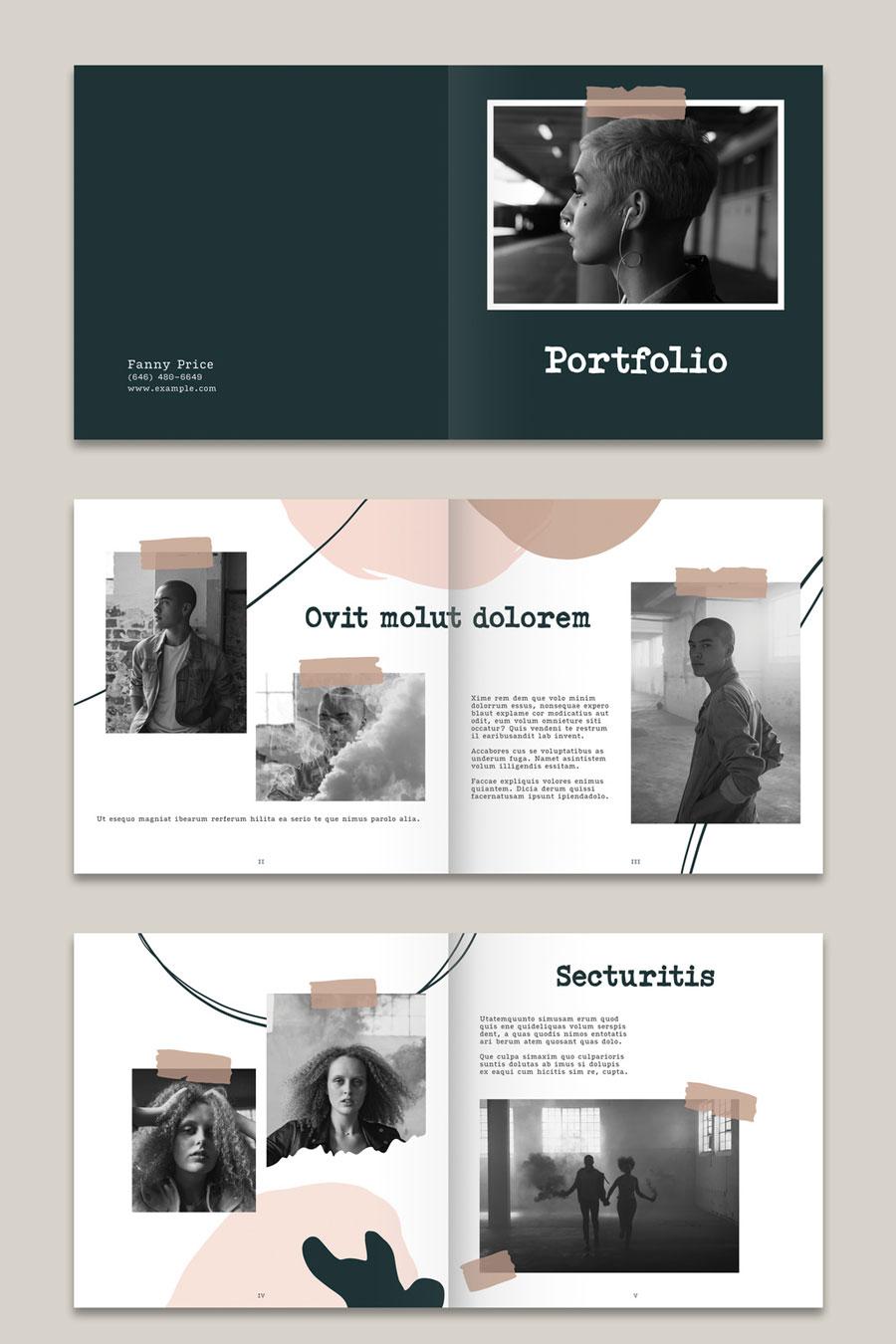 Organic Portfolio Layout