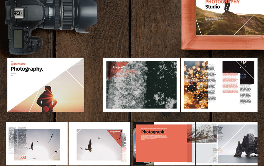 Red and White Photo Album