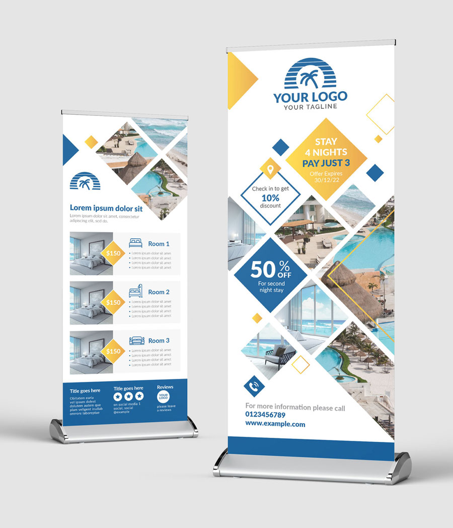 Roll Up Banner for Hotel Travel and Tourism Sector