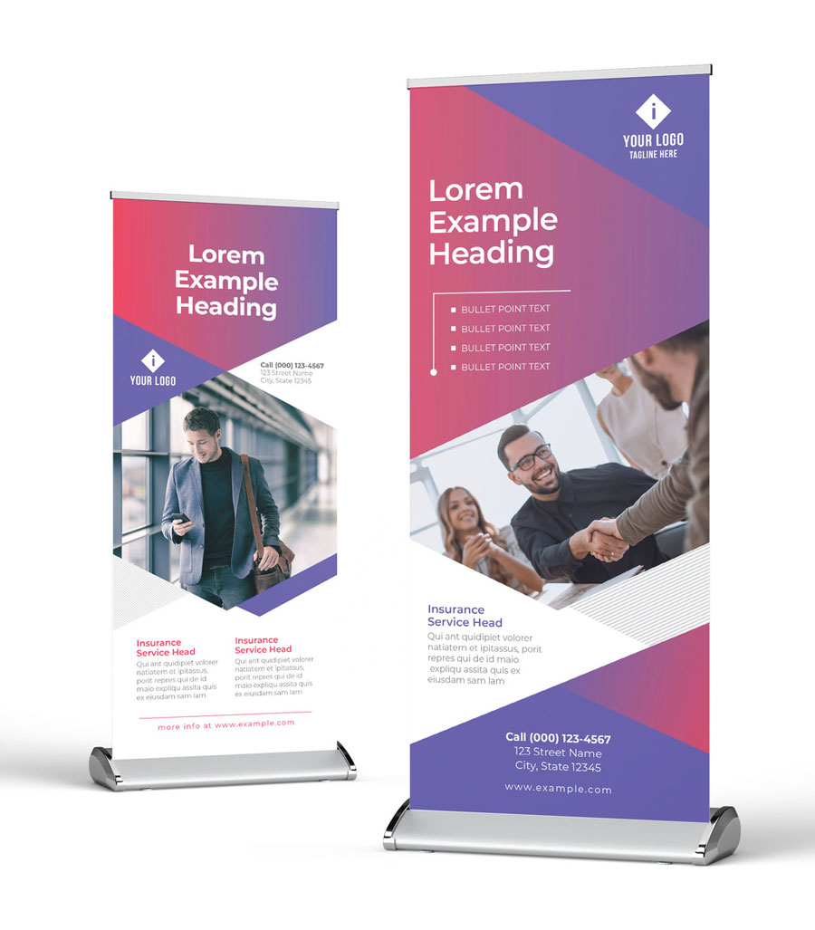 Roll Up Banner with Flexible Corporate Business Style