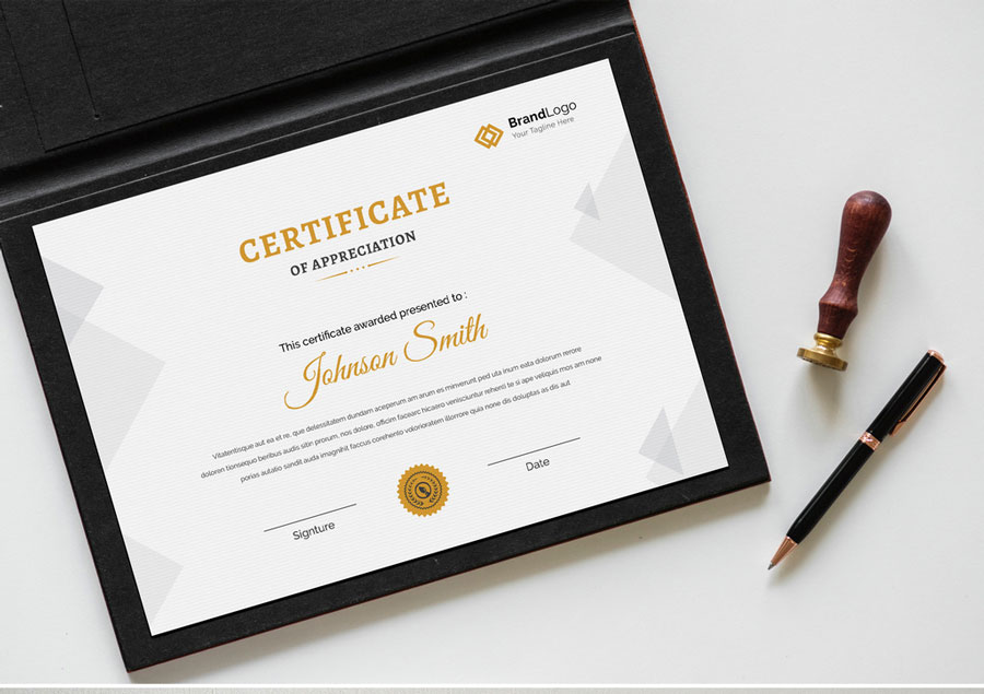 Simple Certificate Layout