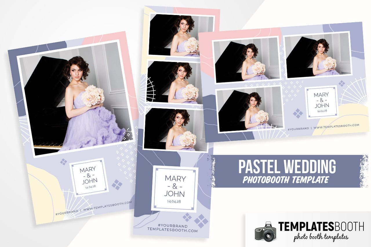Abstract Pastel DSLR Booth Template
