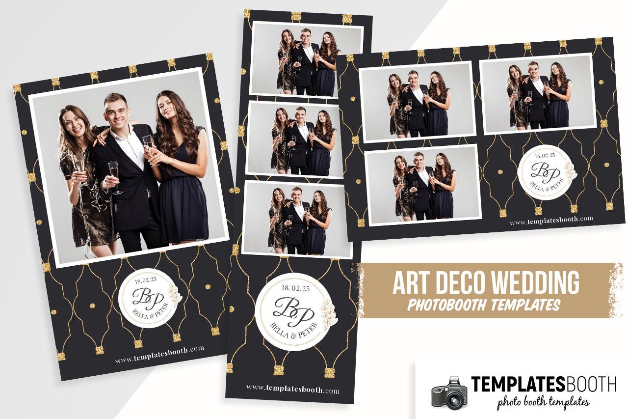 Art Deco Wedding DSLR Booth Template