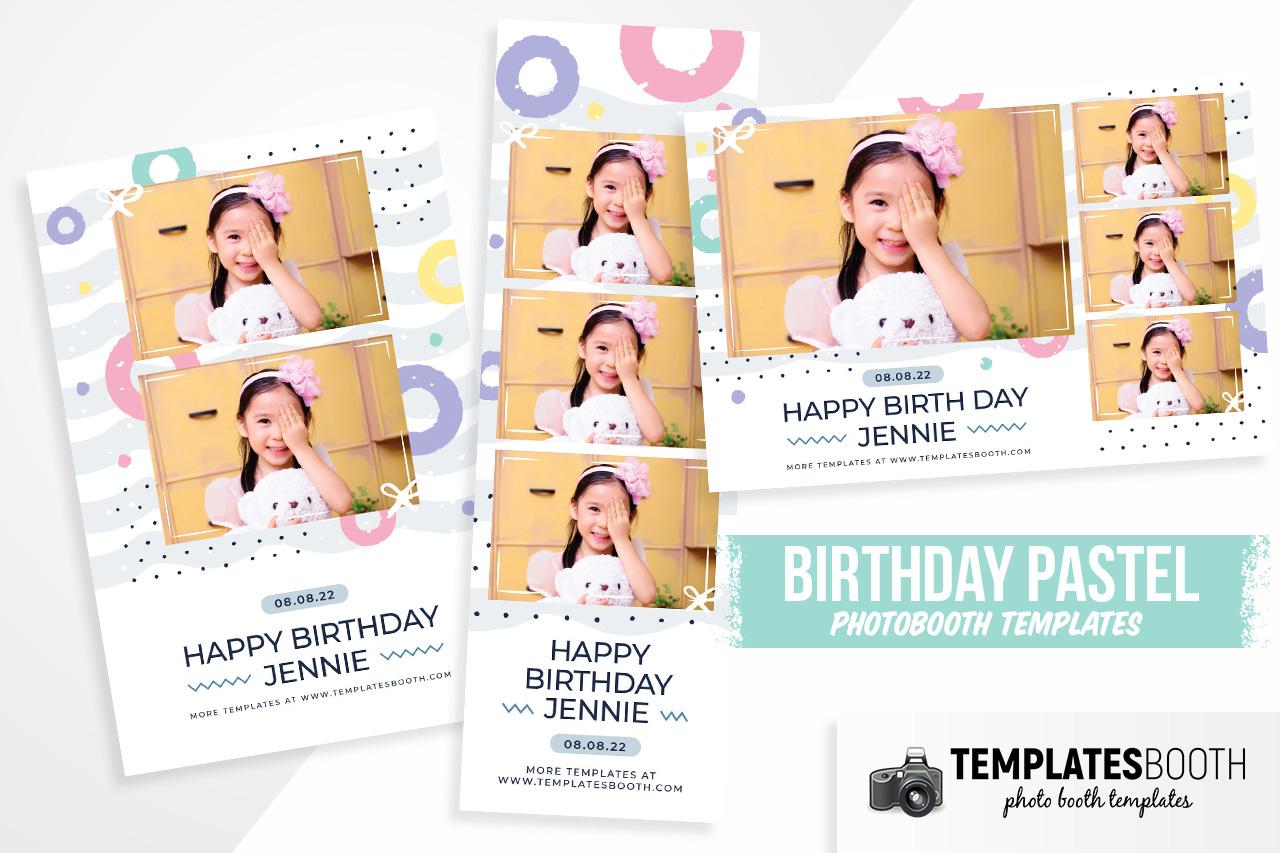 Birthday Pastel DSLR Booth Template