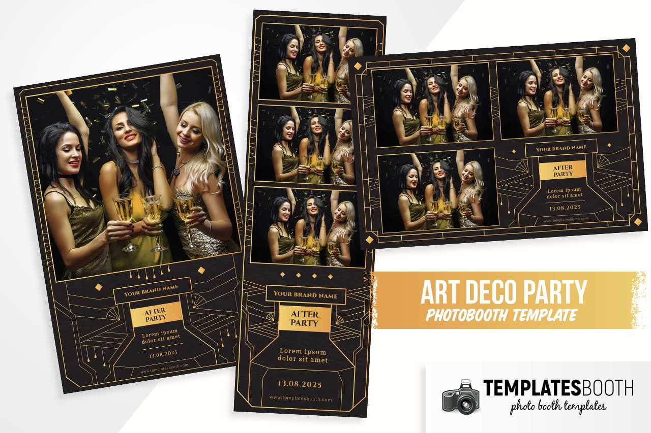Black & Gold DSLR Booth Template