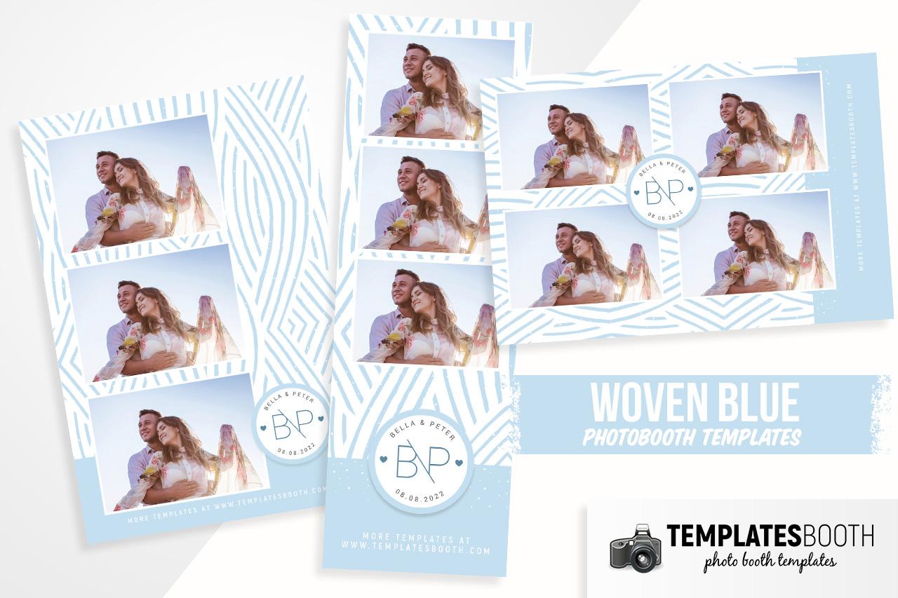 Blue Wedding DSLR Booth Template