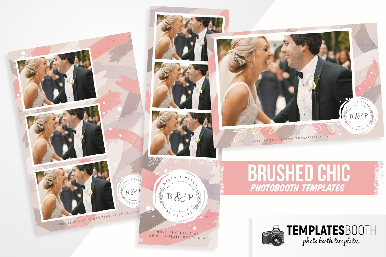 Brushed Chic DSLR Booth Template
