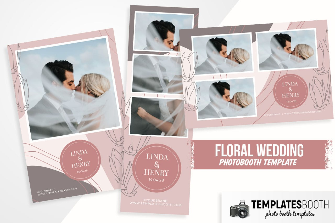 Floral Wedding DSLR Booth Template