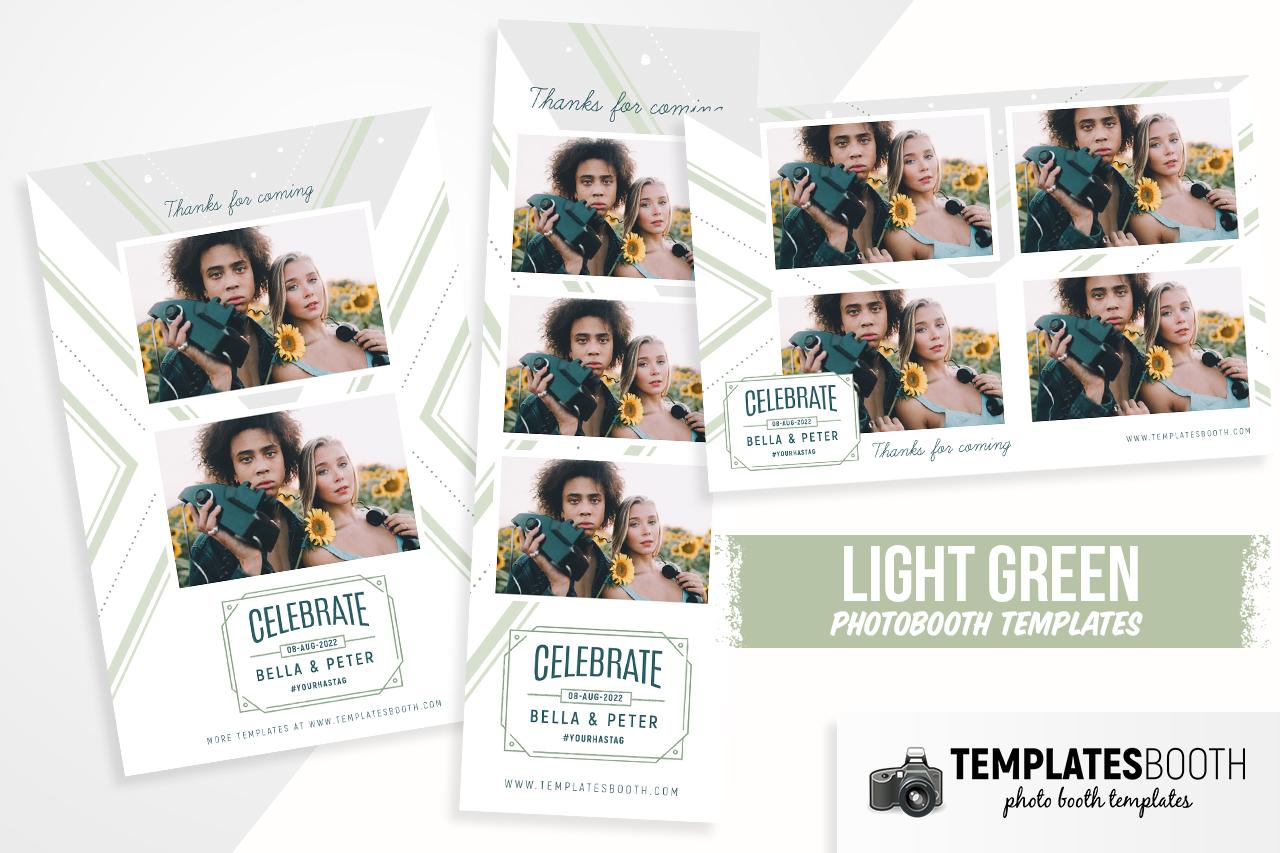 Light Green DSLR Booth Template
