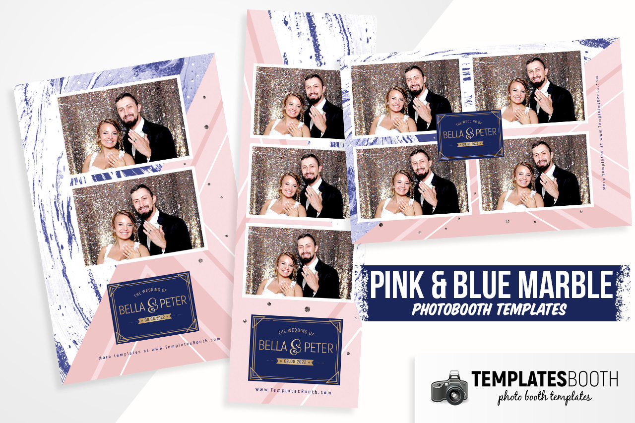 Pink & Blue Marble DSLR Booth Template