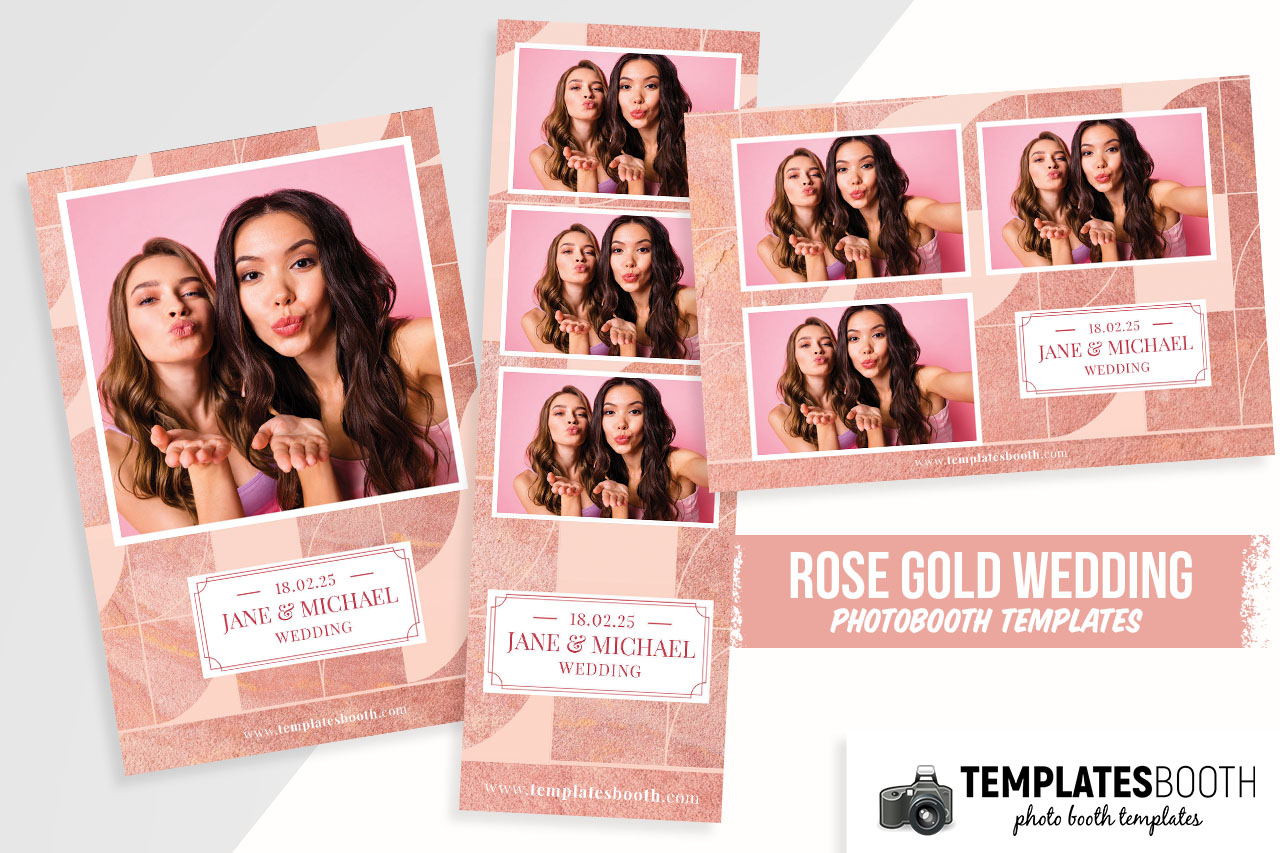 Pink Wedding DSLR Booth Template