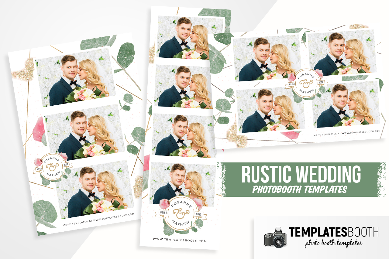 Rustic Wedding DSLR Booth Template