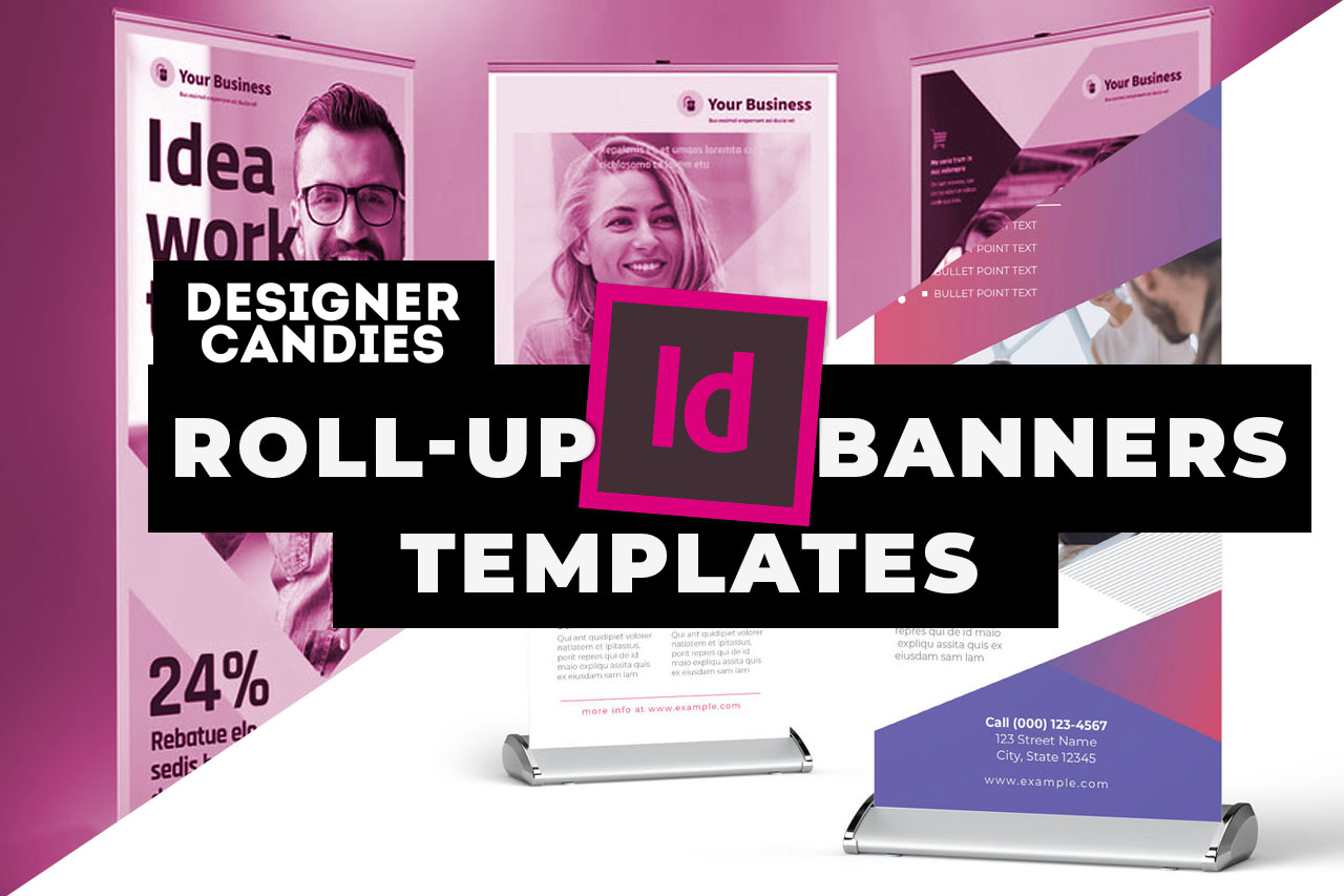 Top InDesign Roll Up Banner Templates