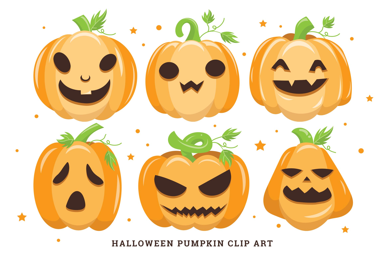 Halloween Pumpkin Illustrations Clipart Vector
