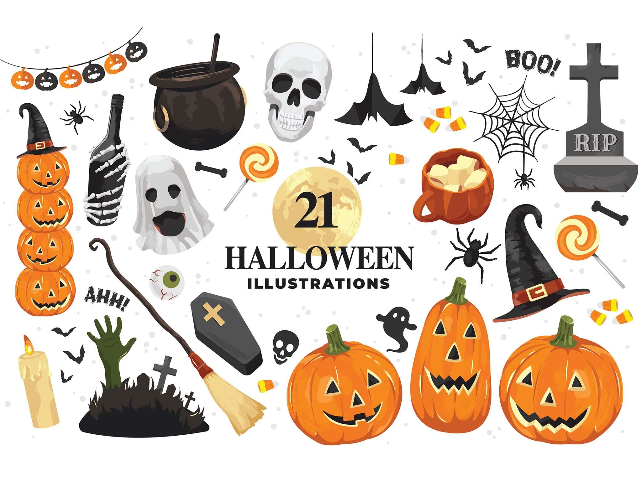 Halloween Vector Illustrations Clipart