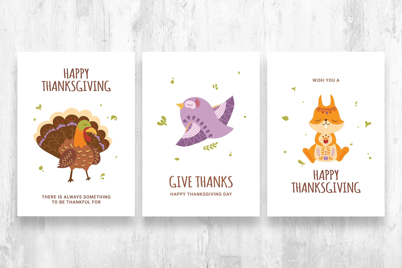 Thanksgiving Woodland Creature Animal Character Illustrations